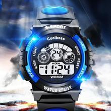 Горячая Распродажа, водонепроницаемые детские часы для мальчиков и девочек, светодиодный, цифровые спортивные часы, силиконовые резиновые часы, Детские повседневные часы, подарок# D