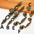 Hole C:C: 78mm/96mm antique brass color furniture handle kitchen cabinet handle drawer pulls with base