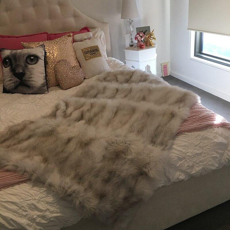 2019 Fox Fur Cotton Fabric Muslin Swaddle Dětská přikrývka / Měkké dětské koberečky