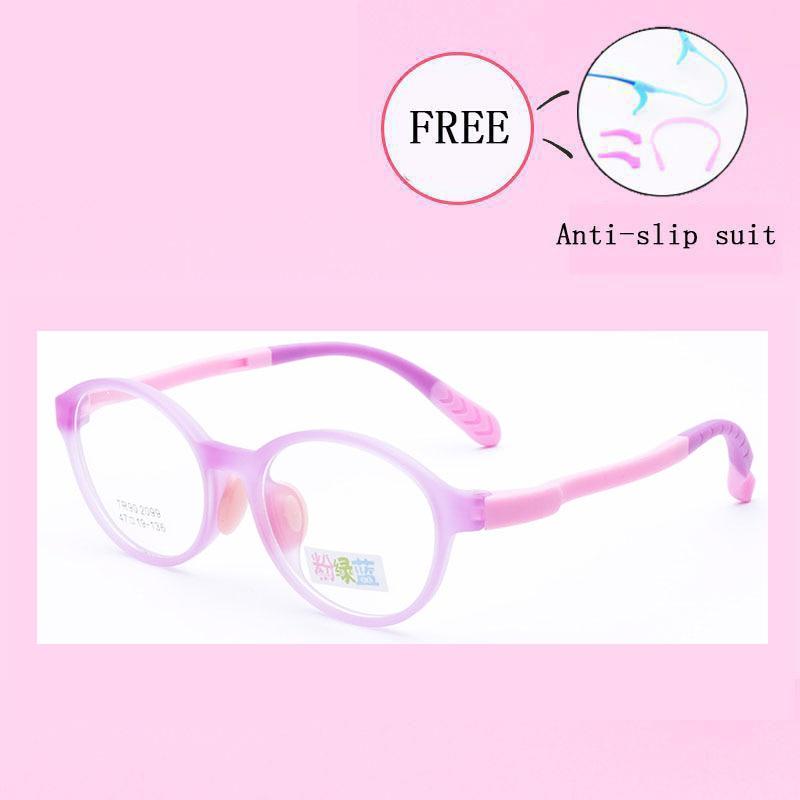Brand Children Glasses Frame TR90 Flexible Silicone Safe Eyewear Myopia Prescription Optical Frames Kids Eyeglasses Y2099-30