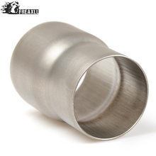Universal 61mm-51mm Motorcycle Modified exhaust Muffler pipe Adapter Reducer Connector Pipe Tube For Kawasaki Z 800 ER-6N 6F цена и фото