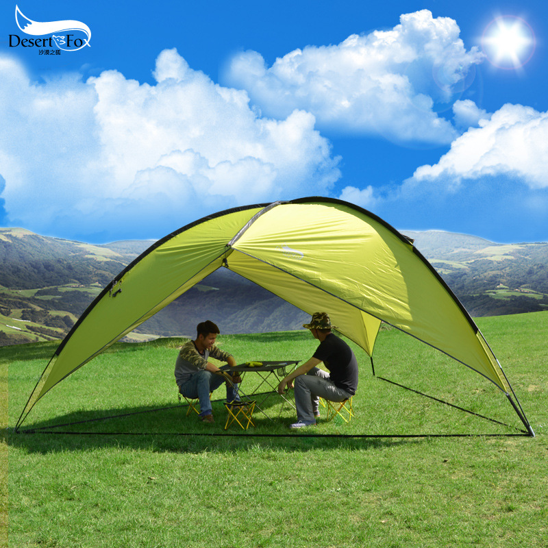 2017 new large outdoor sunshade canopy tent camping tent tent camping tent beach UV 4.5kg outdoor camping hiking automatic camping tent 4person double layer family tent sun shelter gazebo beach tent awning tourist tent