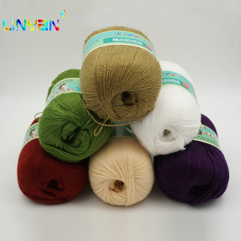 10 Pieces*50g Mink Cashmere 98%,pashm 2% Wholesale! Yarn For Knitting Mink Baby Wool Hand-knitted Soft Hand Knitting Thread T4
