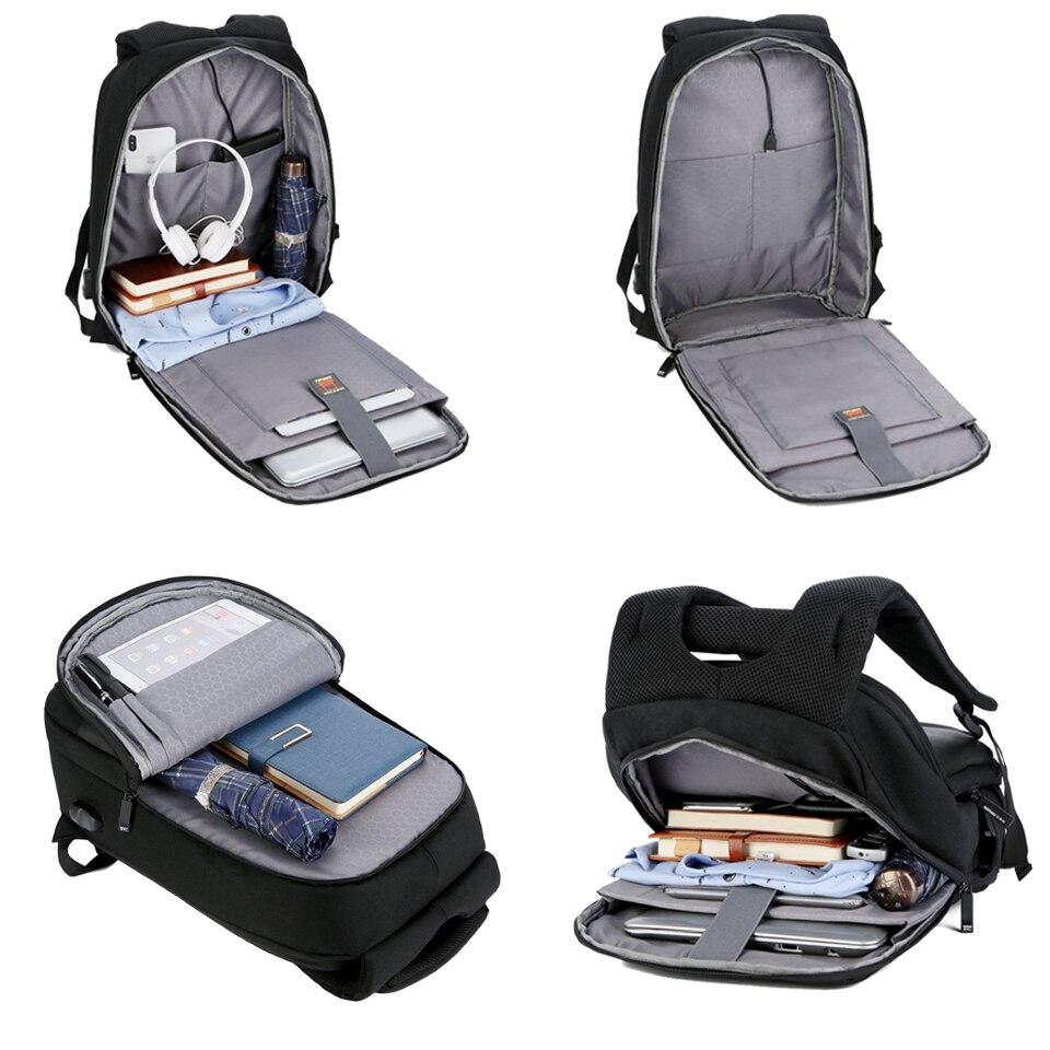 Waterproof Backpack Man Male Backpacks Large Capacity 15.6 Inch Laptop Notebook Bagpack Black Business USB Travel Back Pack Bag