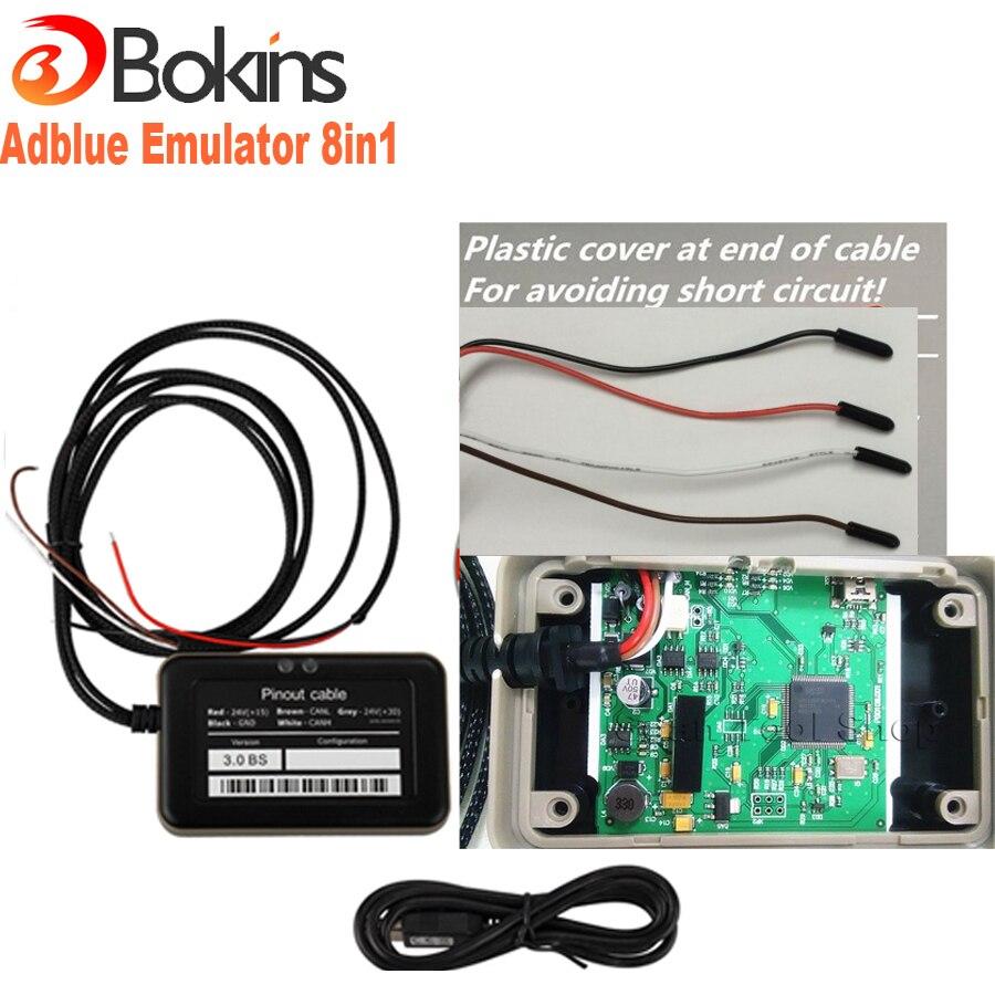Prix pour Adblue Émulateur 8 en 1 V3.0 super qualité adblue 8 en 1 avec Adaptateur Programmation Camion Adblue Émulateur avec NOx capteur