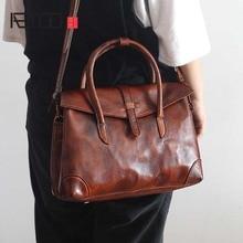 AETOO The new retro fashion womens first layer cowhide handbag female original hand rub color genuine leather shoulder bag