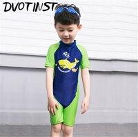 Dvotinst Bebek Erkek Çocuk Giysileri Yunus Mayo Swim Suit Çocuk Bebek Yürüyor Spa Yüzme Plaj Swim Suit Giyim Kostüm