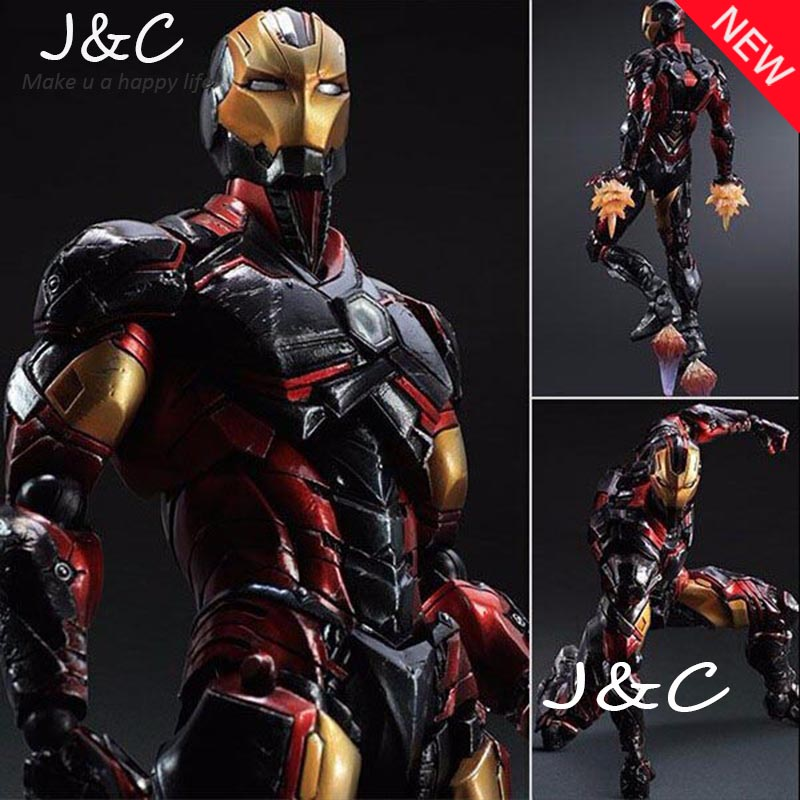 Play Arts Kai Iron Man Super Hero Age of Ultron Tony Stark Hulkbuster PA 27cm PVC Action Figure Doll Toys Kids Gift Brinquedos saintgi marvel avengers assemble iron man tony stark animated doll super heroes 15cm pvc action figure collection model toys