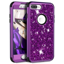 Luxury Hard Case For iPhone 8 7 6 6S Plus Case Glitter Bling Crystal PC Cover Cute Girls For iPhone 7 6 6s 8 Plus Case Silicone motomo brushed aluminum middle skin hard pc cover for iphone 6s plus 6 plus gold