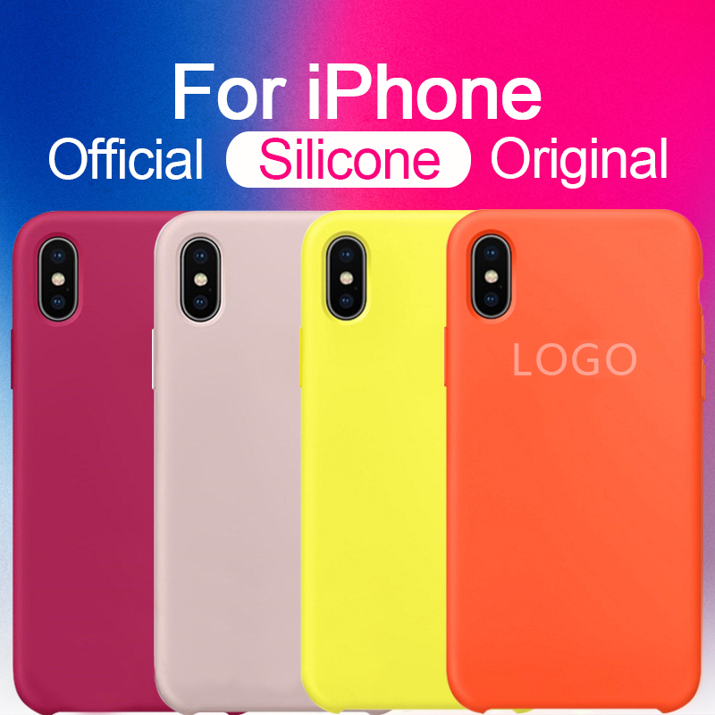 Silicone LOGO Case for iPhone 7 8 Plus
