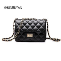SHUNRUYAN 2018 Fashion Brand Design Elegent Chain Small Flap New Ladies Bag Women Messenger Bags Crossbody Bag Shoulder Bag