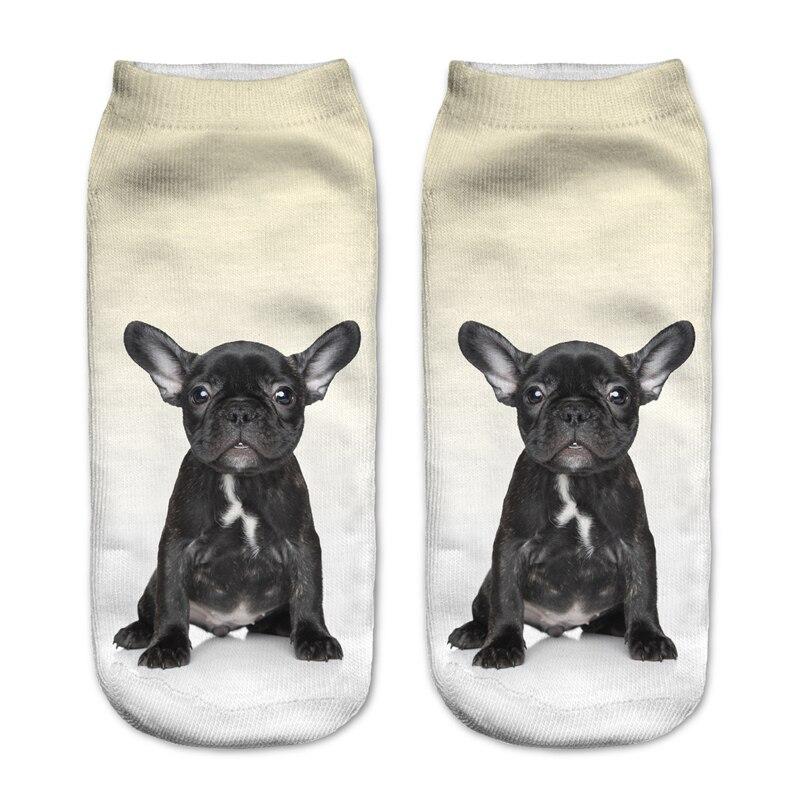 1 Paar Mode 3d Socken Für Frauen Männer Schwarz Bulldog Charactor Hot Item Heißer Stilvolle Einfach Und Leicht Zu Handhaben