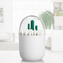 New Fashion Plastic Table Accessories Toothpick Cotton Swab Holder with Cute Artificial Mini Cactus Tree Decorated Kitchen