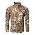 Из дверей военные мужские стенд воротник куртки мягкой оболочки пальто тактические clothing camouflage clothing мужской армии теплый ветровка