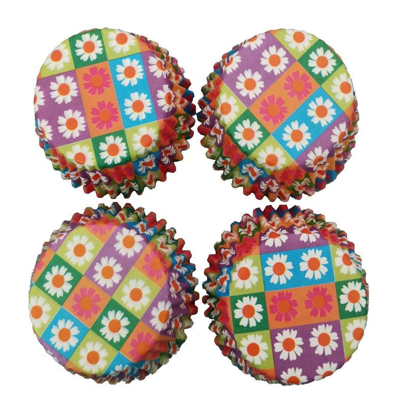 100 pcs Mini Round shape Paper Cake Cup Muffin Cases Cake Cupcake Liner Baking Mold Tray Baking DIY Cake Baking Supplies