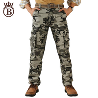New Casual Men Spring Army Green Fashion Cargo Pants Crotch Jogger Patchwork Pants Male Easy Wash