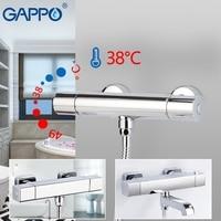 GAPPO shower faucet bath tap mixer thermostatic shower faucet bathtub shower set wall mounted shower faucet bathroom taps