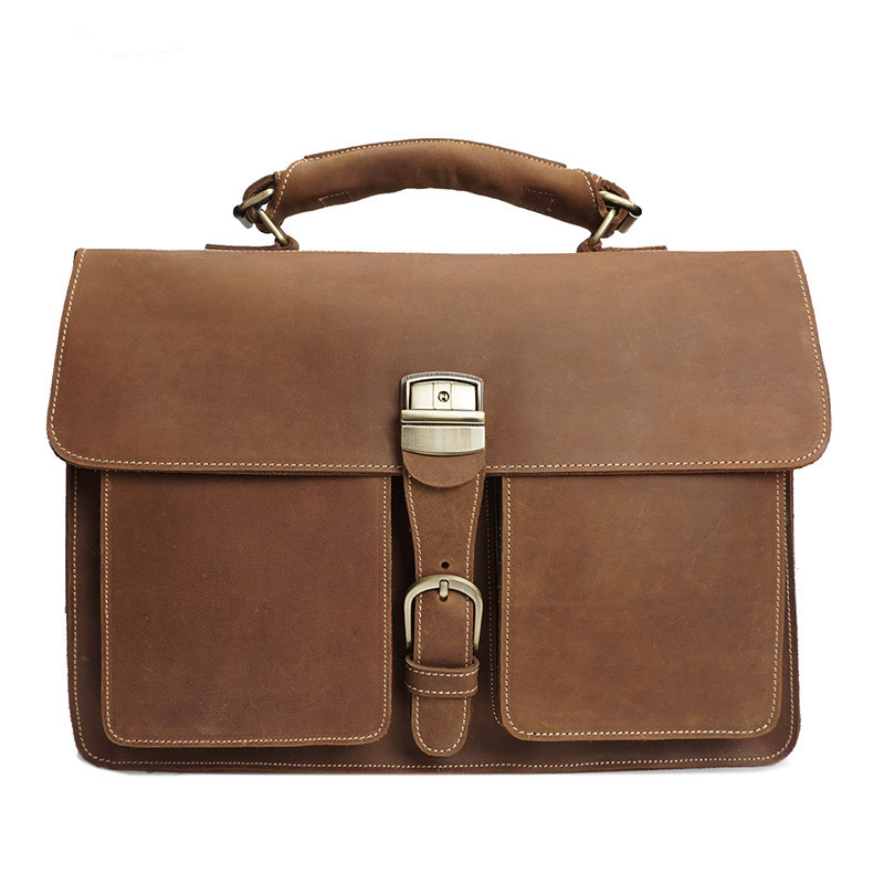 2b69a96c333d Crazy Horse leather bag man 2017 Cow Genuine Leather Messenger Bags Men  Travel Business Shoulder Bag