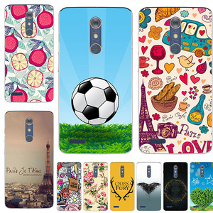 Fashion Soft TPU Silicon Case For ZTE Blade ZMAX Pro Z981 Z MAX Case Print Back Cover Cartoon Rose Patterned Shell Fundas Para