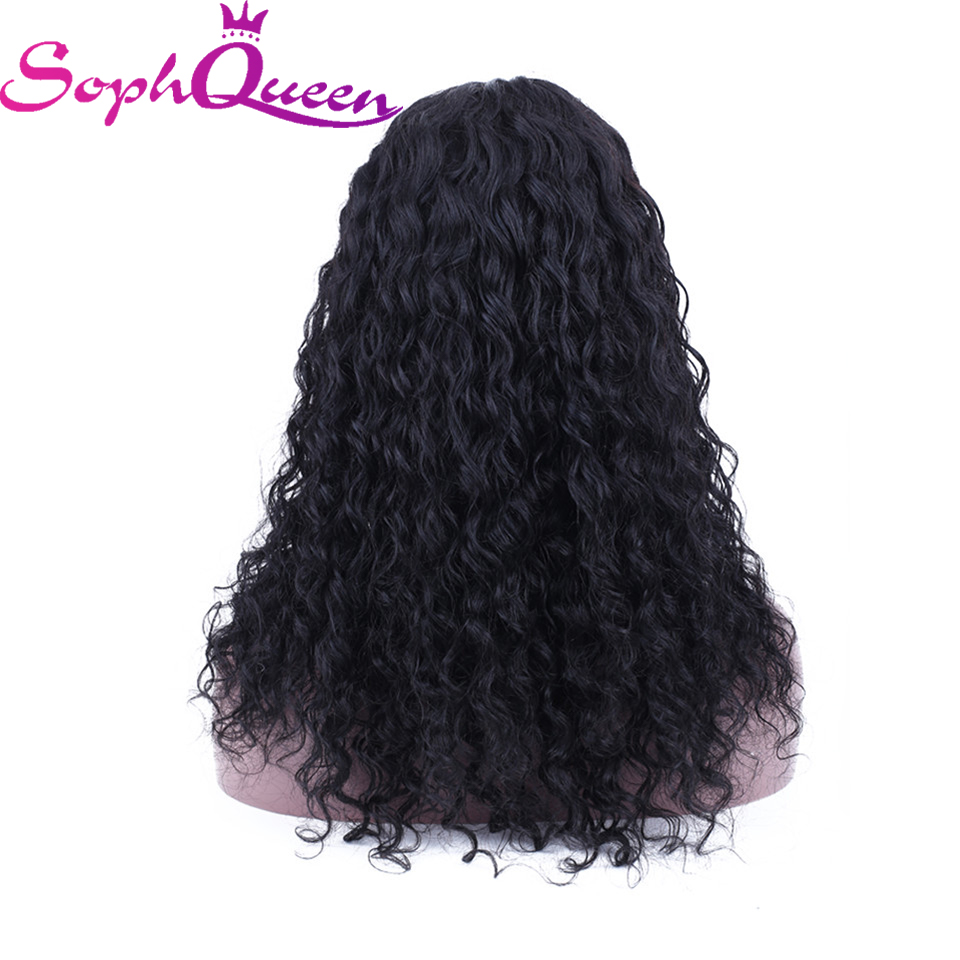 Soph Queen Lace Front Human Hair Wigs Deep Wave 4 4 Human Hair Wig Peruvian Remy