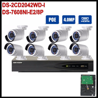 Hikvision 8 Channel PoE Kit Surveillance System Video 8PCS DS 2CD2042WD I 1080P PoE IP Camera