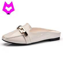 Wolf Who 2017 Ladies's sneakers luxurious model metallic slip on Loafers leather-based sneakers women lazy sneakers slippers for girls sneakers informal