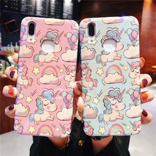 Phone Case For Huawei P20 Pro Funda P20 Lite cover unicorn lovely Fundas For Huawei Honor 10 Half wrapped Case Reflective hoesje стоимость