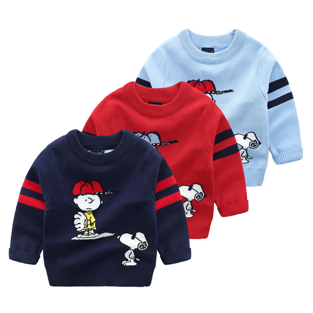 48531d71b219 2018 Winter Baby Sweater Cartoon SNOOPY Pullover Sweaters Kids ...