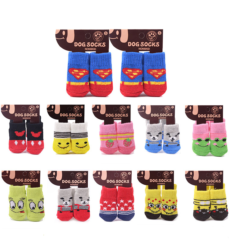 Cotton Rubber Sole Non-slip Breathable Washable Pet Dog Socks For Big Dog Outdoor Sport Dog Socks Winter