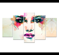 5 Panel Canvas Art For Living Room Colorful Beauty Of Watercolor Creative High Definition Pictures Modular