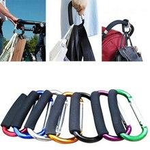 Baby Stroller Hook Kids Trendy Pushchair Diaper Bag Hanger Alloy Stroller Clip Hook Pram Carabiner for Mommy Baby