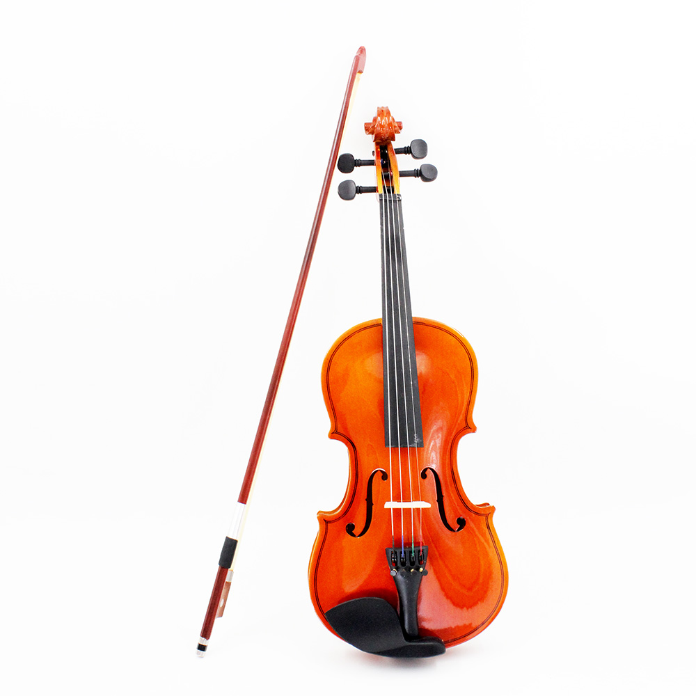 Violon 4/4 en bois massif acoustique naturel violon violon violon Basswood Instrument à cordes en acier jouet de musique pour enfants débutants