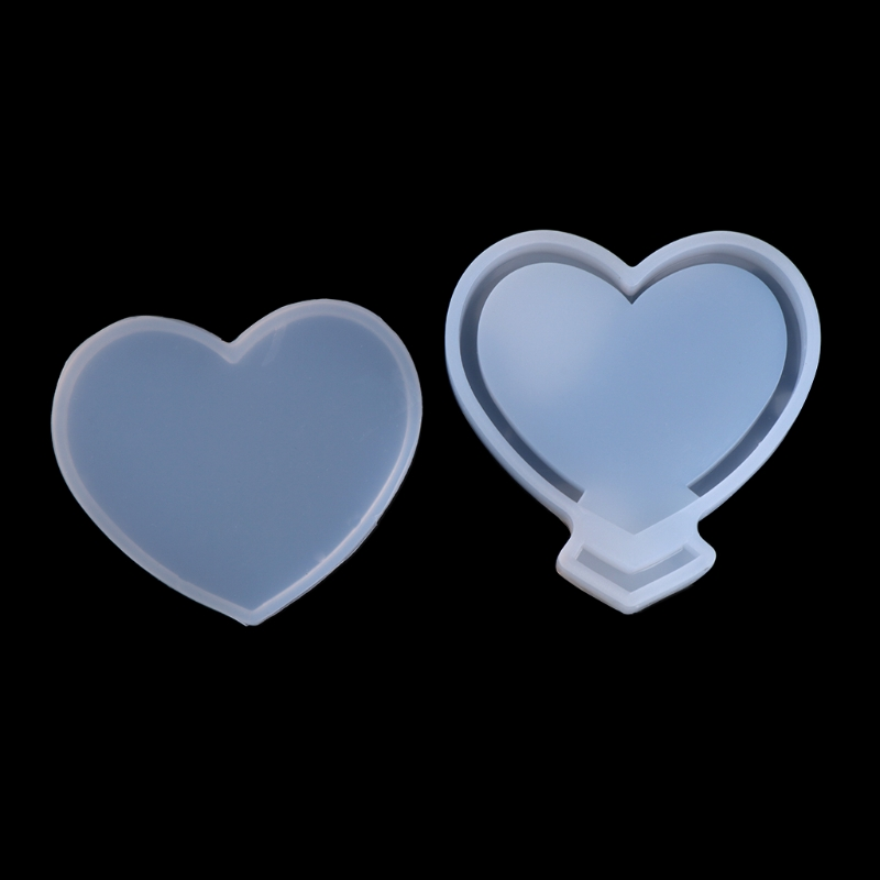Free Delivery DIY Shifting Craft Heart Pendant Epoxy Resin Shaker Charm Silicone Mold Transparent Loving Heart