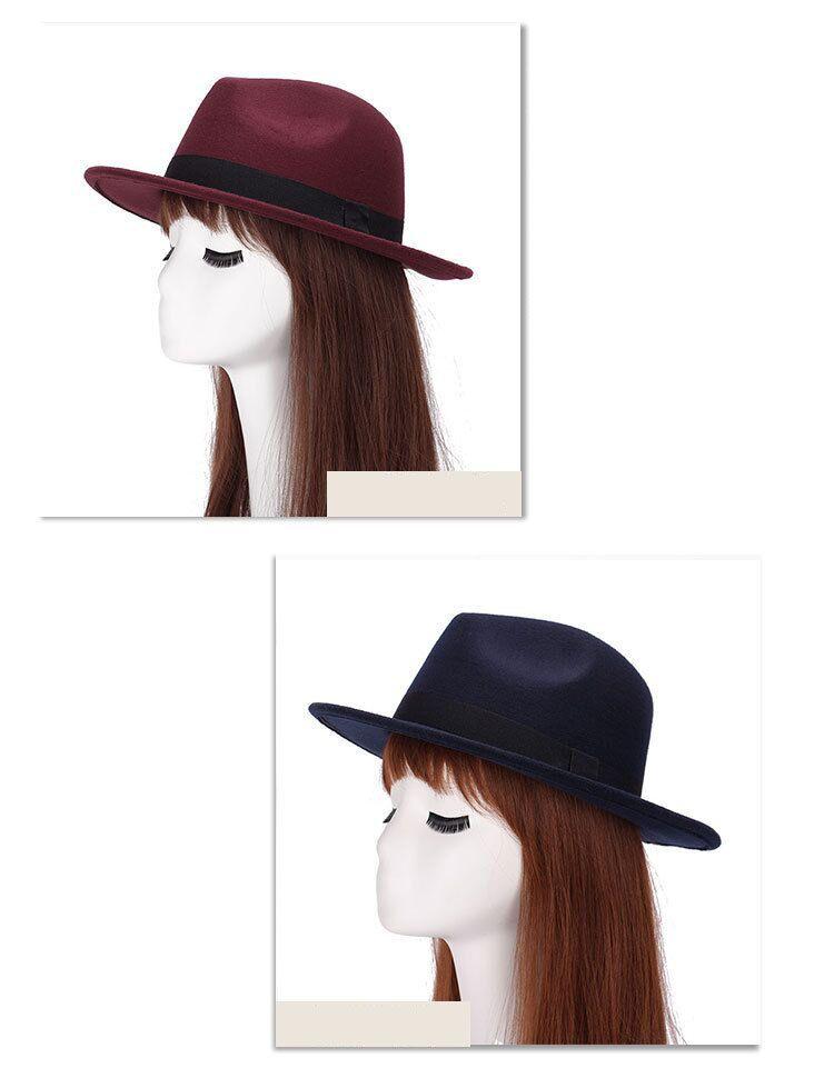 Chapeau Fedora pure laine et imperméable