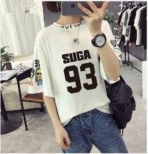 Harajuku T Shirt Women K-pop Couple Clothes Letter T Shirt White Black Over Size Tops Jungkook Jimmi Suga T-shirts Kpop jimmi fashion 567 4