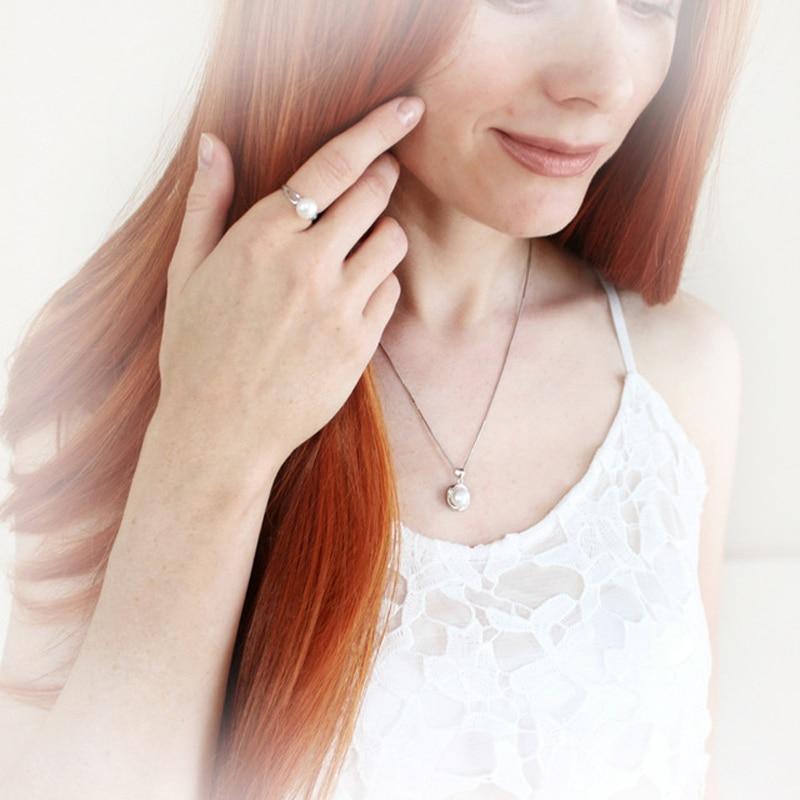 Pravi Vjenčanje Prirodni biser Nakit Kompleti 925 Srebrni naušnica - Fine nakit - Foto 6
