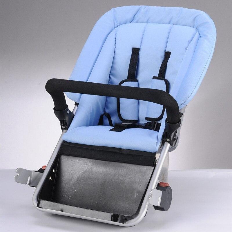 Un siège de plus pour 2018 nouvelle mère et bébé vélo poussette Twims bébés landaus deux enfants chariot en acier au carbone matériel couleur rouge