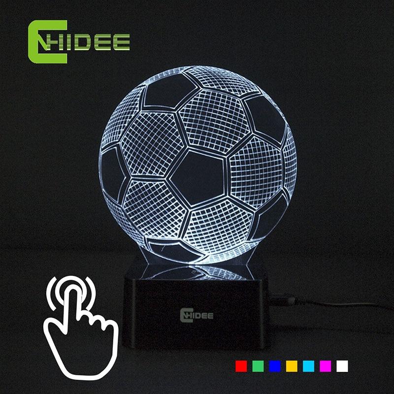 Soccer Ball Lamp Australia: Seven Colors Changing Soccer Ball Light Football 3D Visual