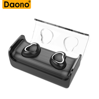 DAONO TWS Bluetooth Earphones True Wireless Earbuds Mini Stereo Music Headsets Hands free With Mic Charging Box for Phones