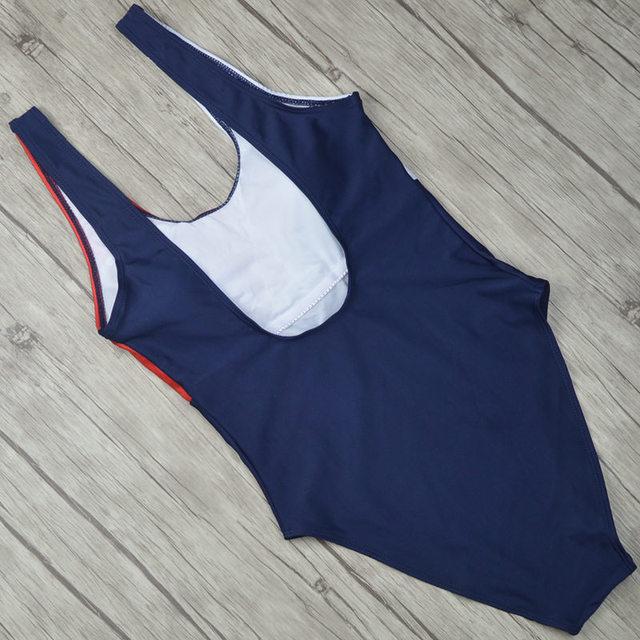 2018 New Patchwork Thong One Piece Swimsuit Sexy Halter Fused Swimwear Female Women Brazilian Bather Monokini Beachwear 2