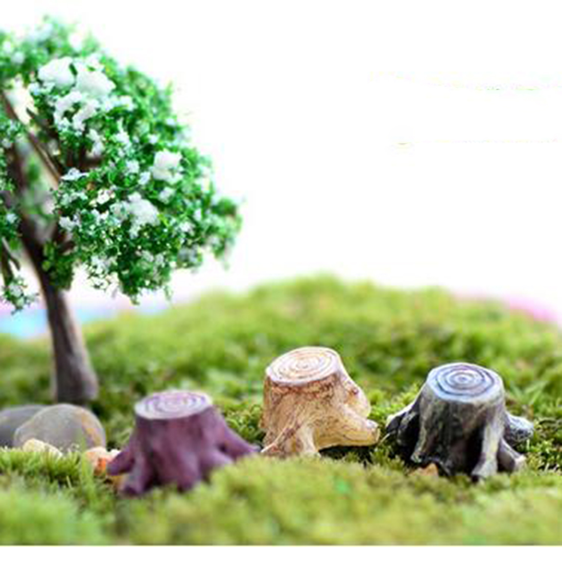 Garden decorations for sale - Aliexpress Com Buy Big Sale Crafts Decorations Miniature Multicolour Tree Stump Fairy Terrarium Christmas Xmas Party Garden Gift From Reliable Garden