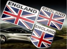 High Quality 1pcs 50x50mm 80x50mm Aluminum Alloy Badge Emblem car sticker for Union Jack England Flag [60x40mm available](China)