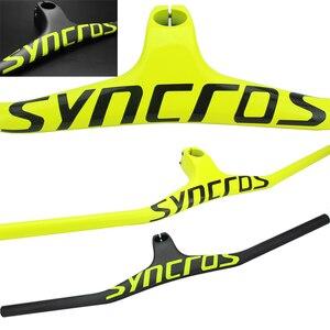Image 3 - Syn Custom אלוף MTB אופניים כידון/Riser  17 תואר אחד בצורת משולב כידון 3K מבריק או מט פחמן סיבי Avi