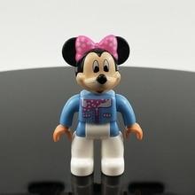 Legoing Duplo фигурки животных Минни игрушки мультфильм строительные блоки город Микки Маус фигурка для Duplo Рождество девочка подарок для ребенка