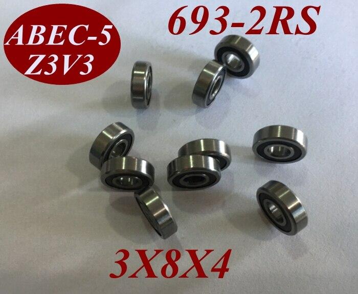 100Pcs 693RS 693RZ 693 2RS 693 2RZ 693 2RS 3X8X4 MM 3 8 4 MM Miniature