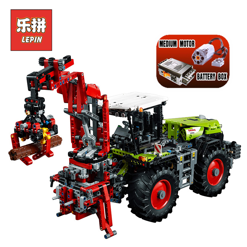 Lepin 20009 Technic Series Mechanical Heavy Tractor Set Model Building Kits Blocks Bricks Children Toys Christmas Gift 42054 free shipping lepin 21002 technic series mini cooper model building kits blocks bricks toys compatible with10242