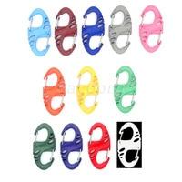 1200pcs/pack Colorful Plastic S Hook Carabiner Clips For Paracord Survival Bracelet/Keychain 12 Colors