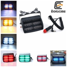Eonstime 18 LED de Emergencia Del Vehículo Luces Estroboscópicas Parabrisas Dashboard Flash Advertencia Rojo/Bule/Ámbar/Blanco LED de LA POLICÍA LUCES