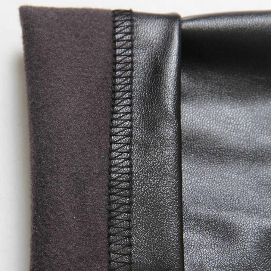 2019 Cores Disponíveis Primavera 25 Nova Chegada Leggings de Couro de Cintura Alta Leggings Mulher Alta Qualidade Legging Femme Frete Grátis