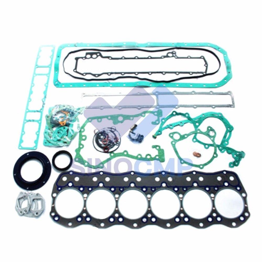 6D16 6D16T Engine Gasket Kit For Kobelco SK330 Kato Excavator|Engine Rebuilding Kits| |  - title=